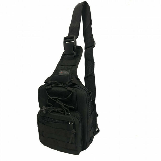DDT, 10910, Night Stalker Sling Backpack, Black- Small