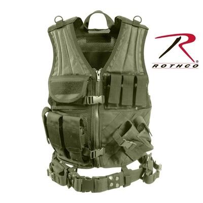 Rothco, 4591, Olive Drab M.O.L.L.E. Cross Draw Tactical Vest