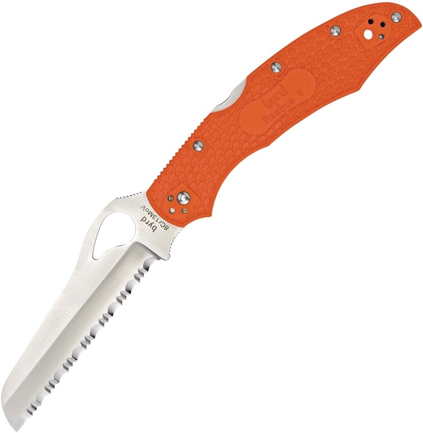 Byrd, BY17SOR2, Serrated Rescue Orange Handle