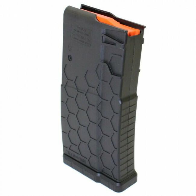 Hexmag, hx1929sr25blk, AR-10/.308 mag, 10rd polyhex2, Black