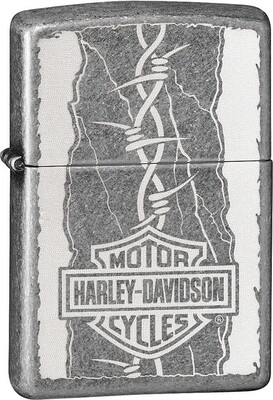 Zippo, 29560, Harley Davidson Barb Wire