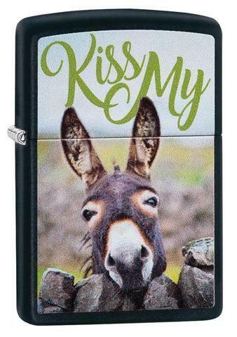 Zippo, 29868, Kiss My Donkey Design