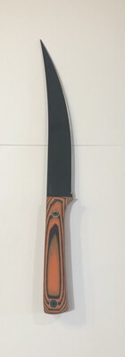 JPBW, Model 427, 007, Orange/Black G-10 Handle, Black powder coat blade