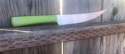 JPBW Model 427 Fillet Knife Satin Finish W/toxic Green G-10 Handles