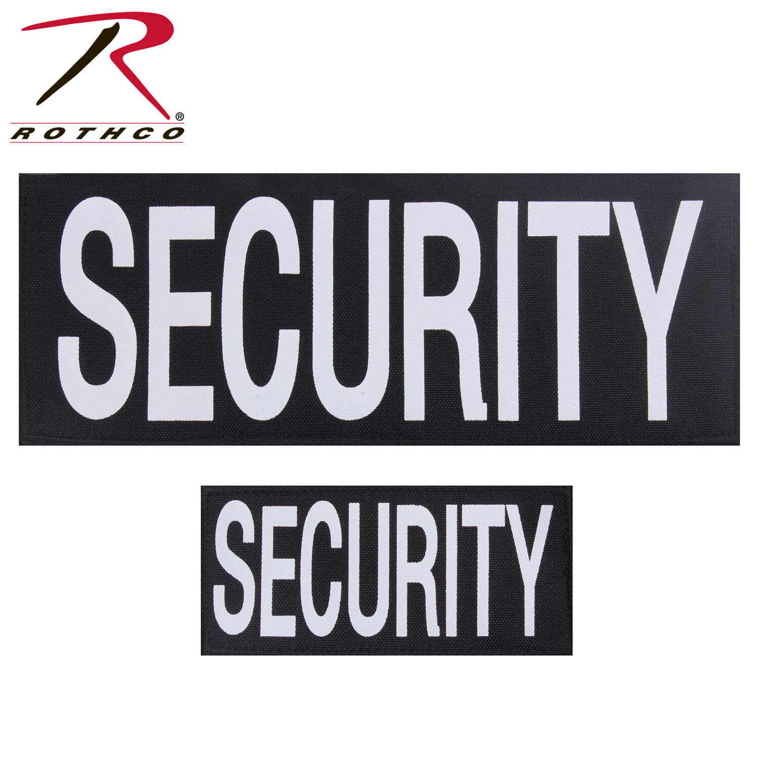 Rothco, 1912, SECURITY 2-Pc. Patch Set w/Hook Back