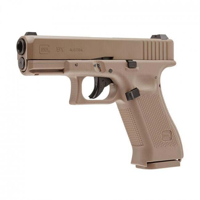 Umarex, 2255212, Glock 19X Gen 5 AIR PISTOL .177 Cal BB