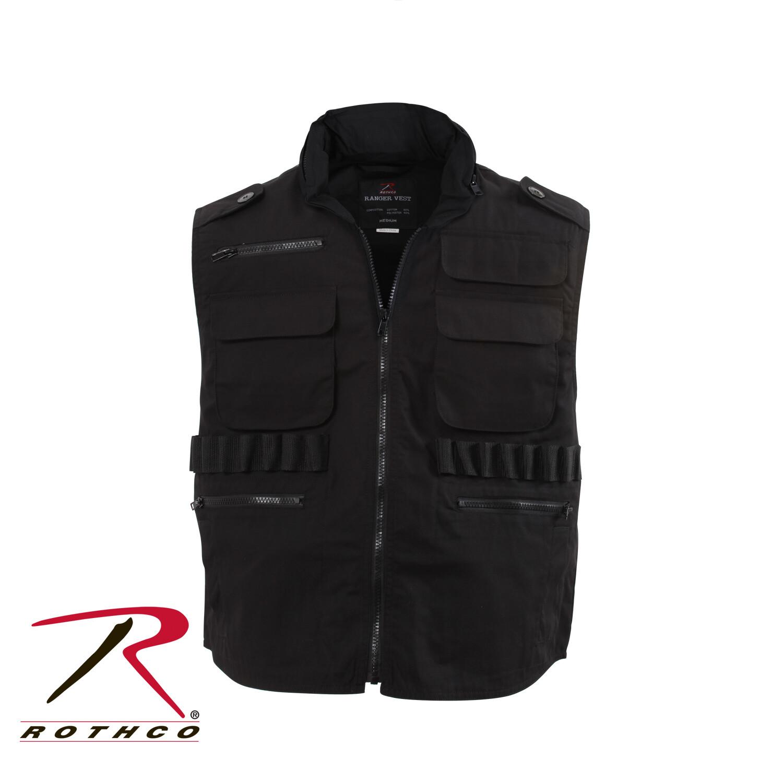 Rothco, 7557-M, Black Ranger Vest