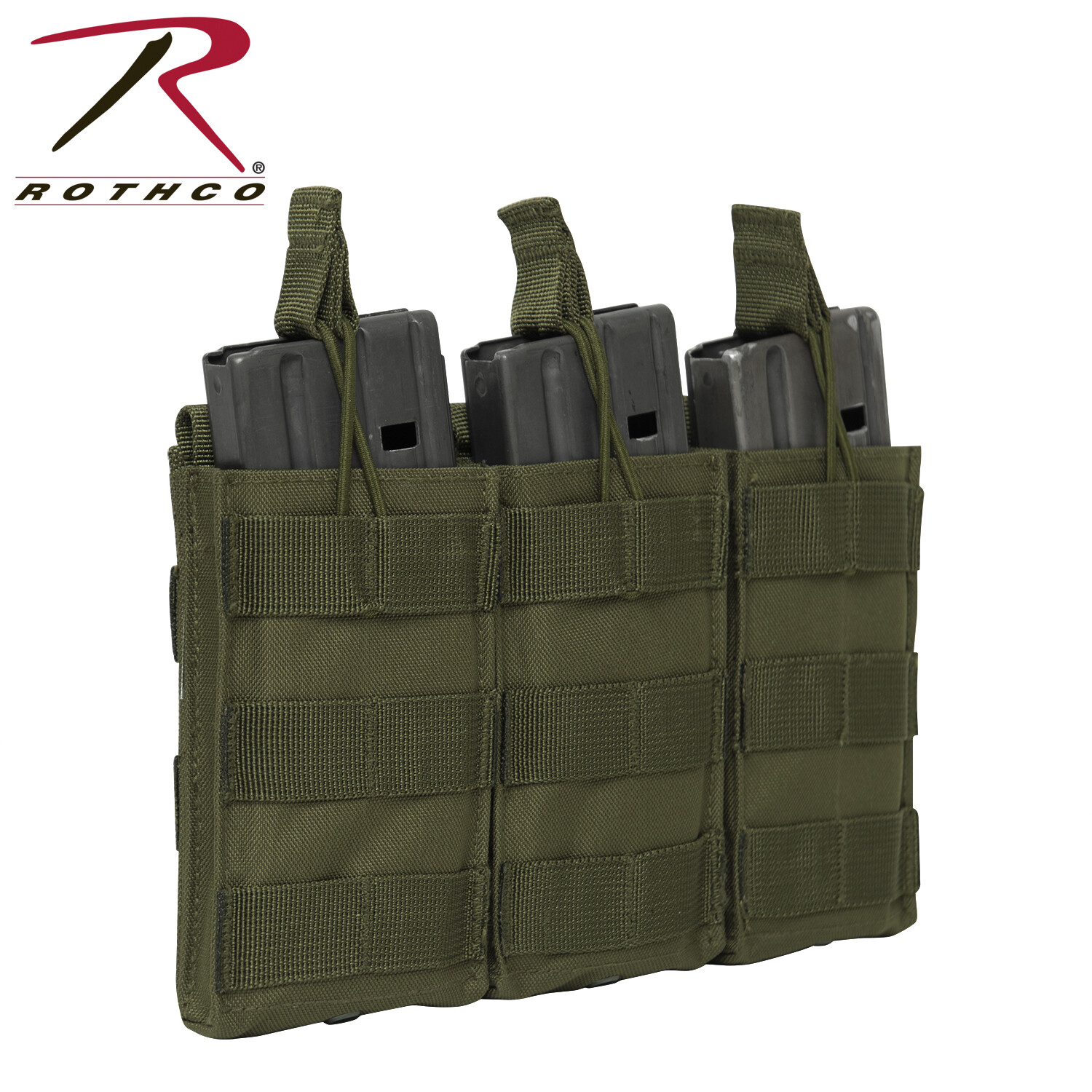Rothco, 3140, Molle Open Top Triple Mag Pouch