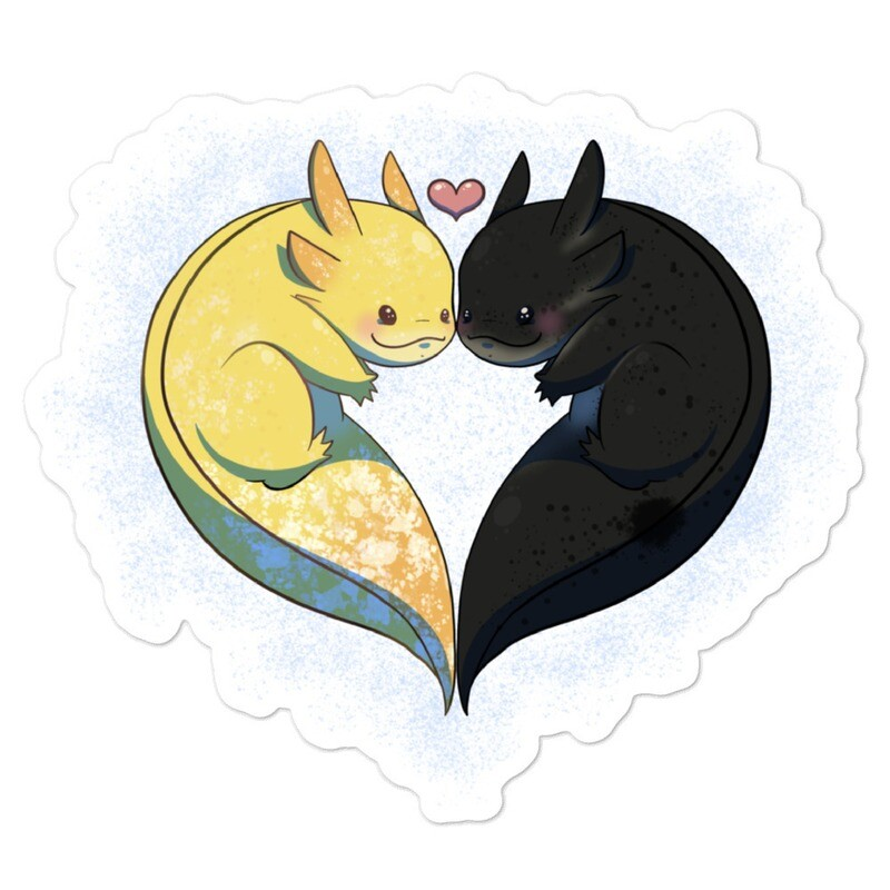 Toothless and Blink Sticker