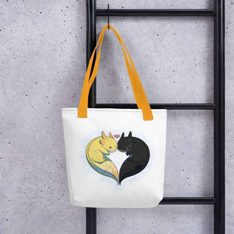 Blink & Toothless Tote Bag