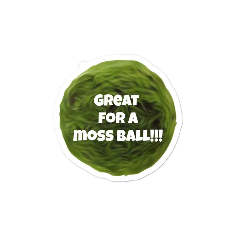 Great for a Moss Ball!!! Bubble-Free Sticker