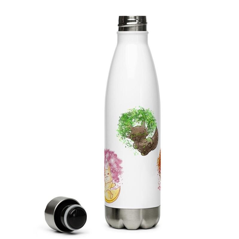 Axolotl Seasons Stainless Steel Water Bottle