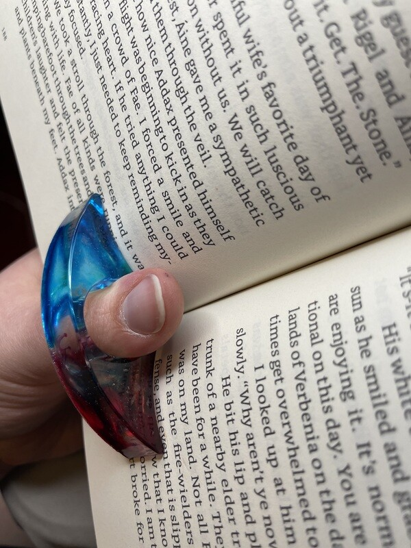 Blue, Green, & Red Resin Page Holder