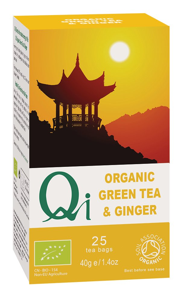 Qi Organic Green Tea & Ginger