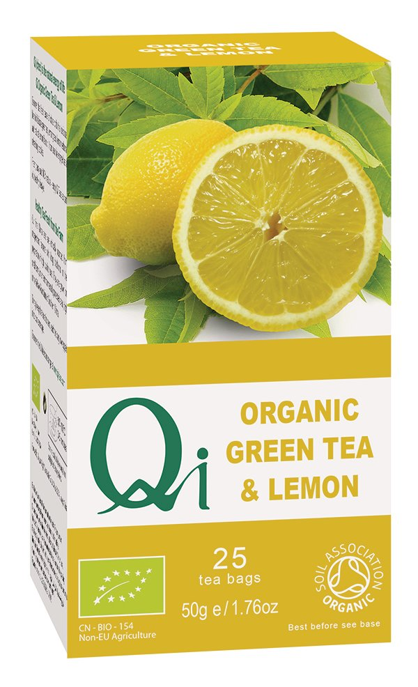 Qi Organic Green Tea & Lemon