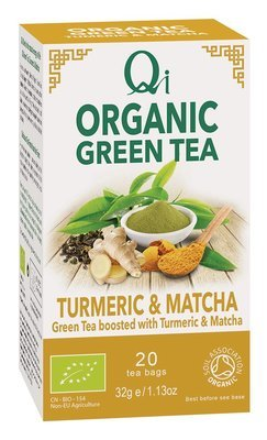 Qi Organic Green Tea - Turmeric & Matcha