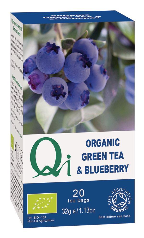 Qi Organic Green Tea & Blueberry