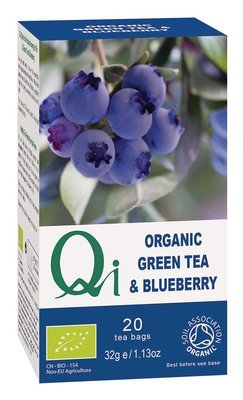 Qi Organic Green Tea & Blueberry