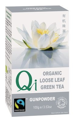 Qi Organic Loose Leaf Gunpowder Tea