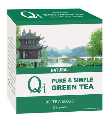 Qi Green Tea Pure & Simple 80 x Teabags