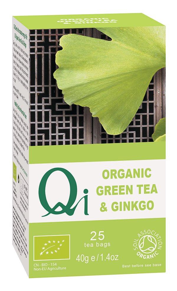Qi Organic Green Tea & Gingko