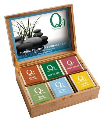 Qi Presentation Box with 6 different teas