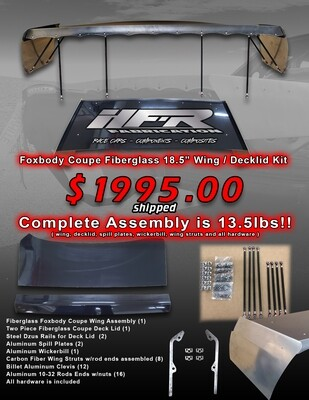 HFR Foxbody Coupe Fiberglass 18.5