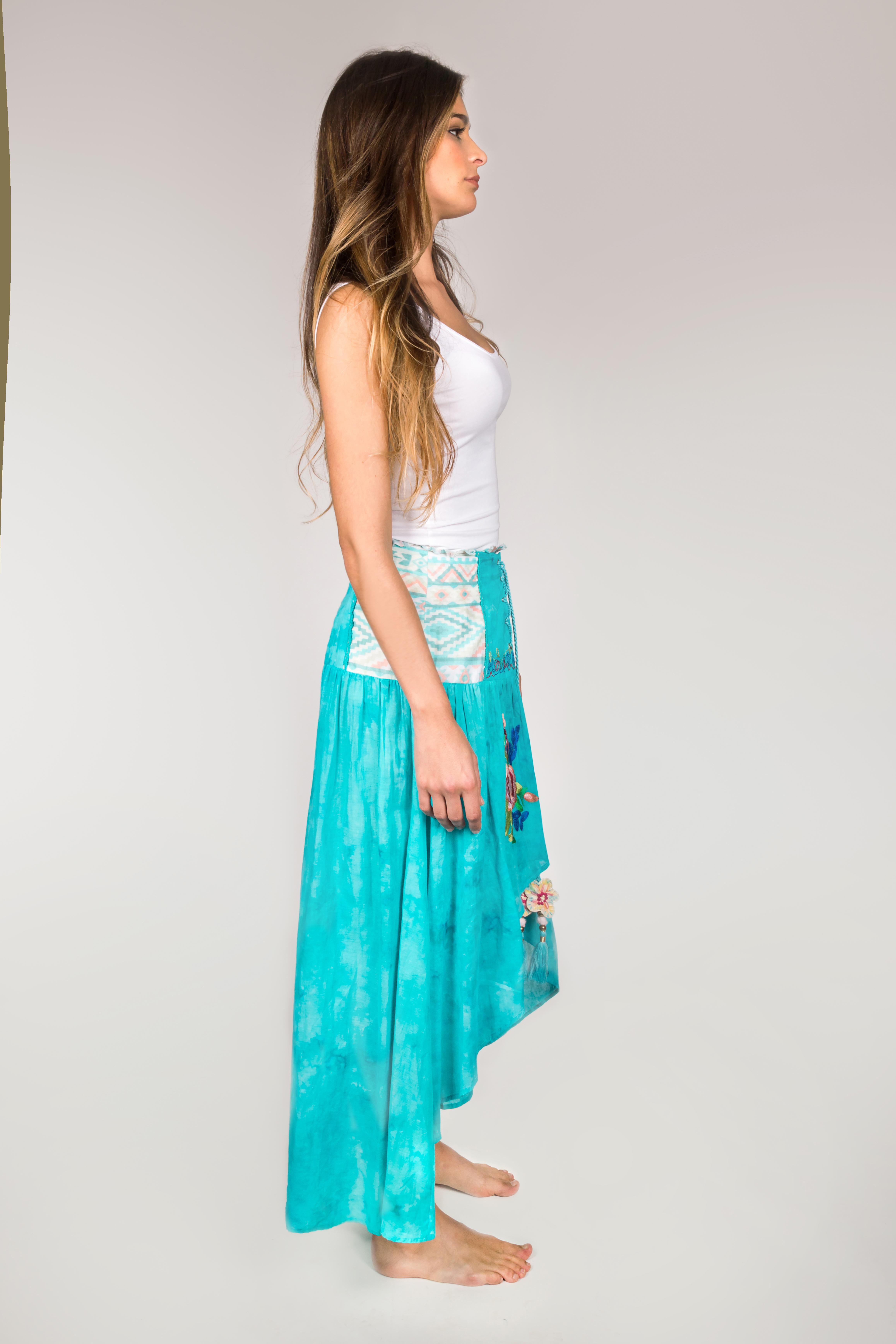 Shoklett: High Low Corset Waist Sea Flower Skirt Sherlyn (2 Left!)