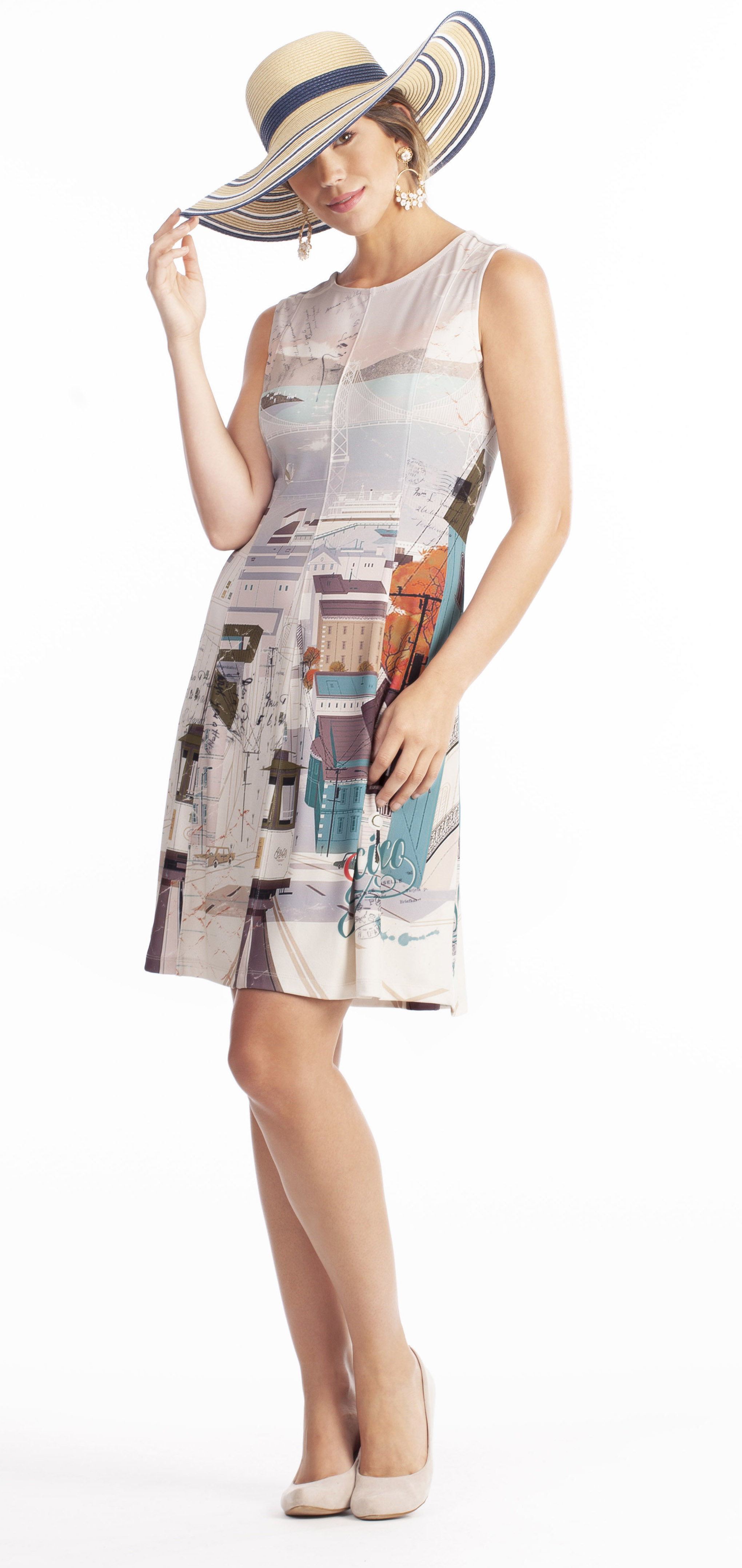 Dolcezza: Like To Travel Fit & Flare Dress/Tunic (1 Left!) DOLCEZZA_19171_N2