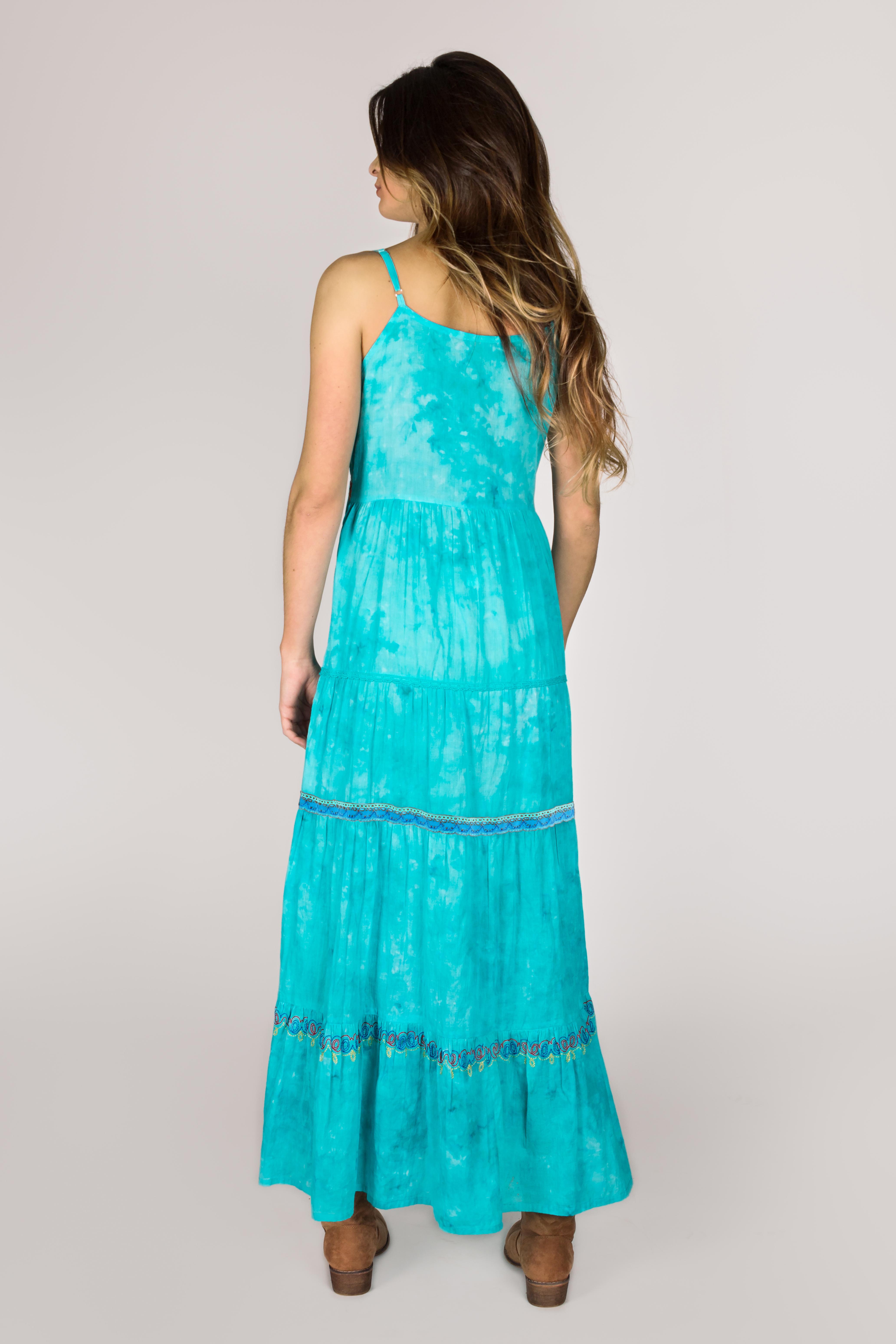 Shoklett: High Low Corset Tied Bodice Sea Flower Maxi Dress Sherlyn (Few Left!)