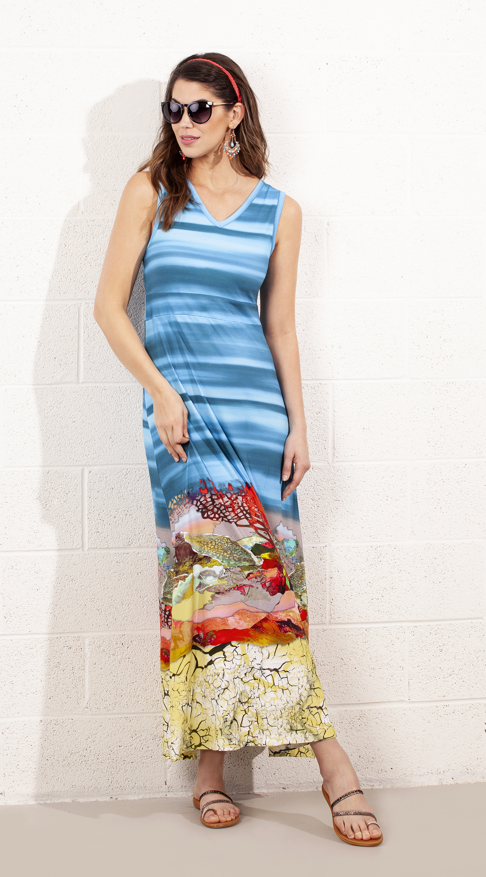Dolcezza: Under The Sea Coral Scene Art Maxi Dress SOLD OUT DOLCEZZA_19213_N