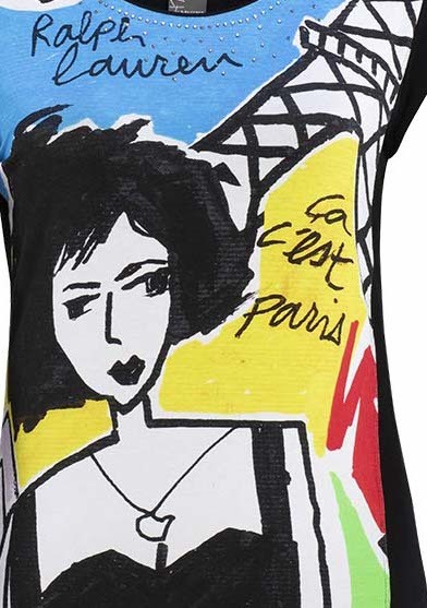 Dolcezza Simply Art: Pretty Lady In Paris Asymmetrical Art Tunic SOLD OUT