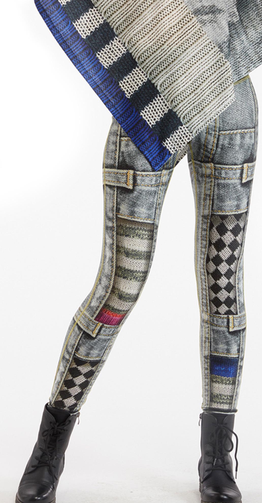 IPNG: Destructive Denim & Knit Illusion Grand Familia Legging IPNG_GFYL-065