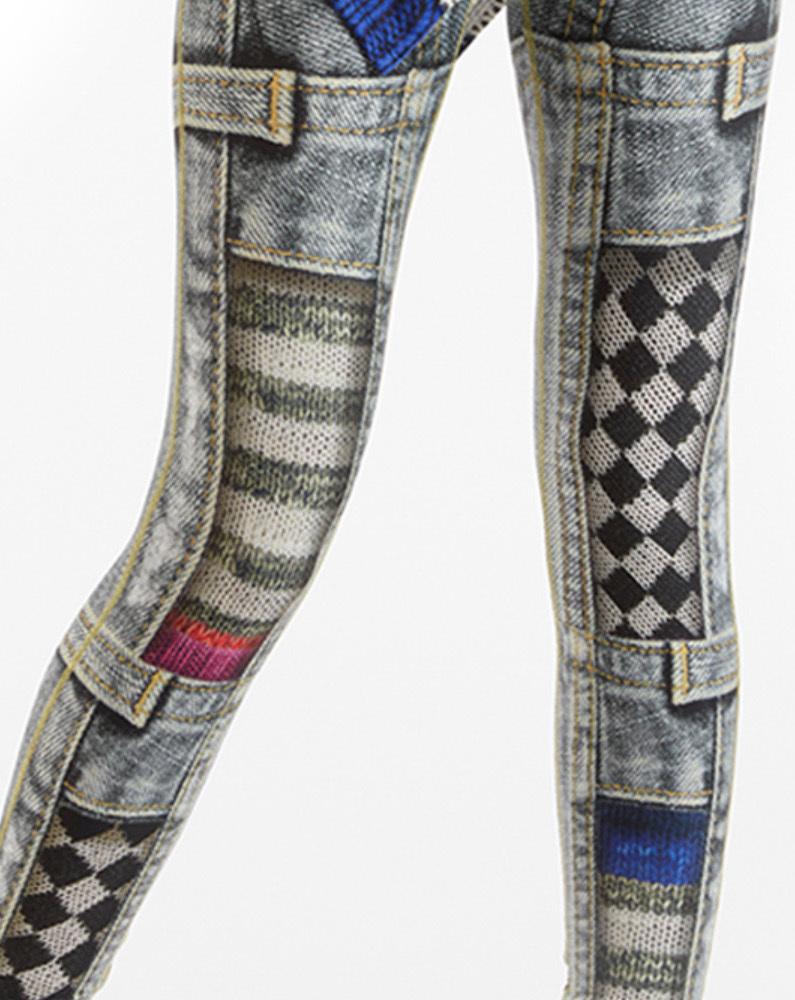 IPNG: Destructive Denim & Knit Illusion Grand Familia Legging