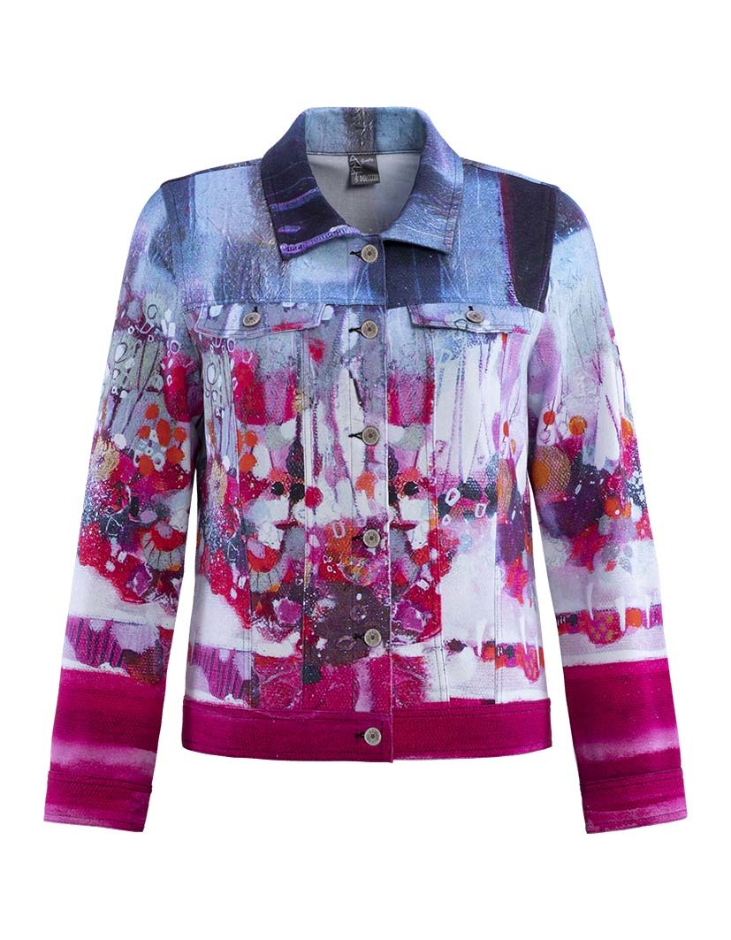 Simply Art Dolcezza: Fuschia Candy Storm Abstract Art Jacket SOLD OUT DOLCEZZA_SIMPLYART_19658_N