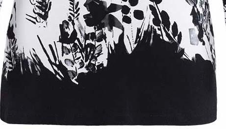 Dolcezza: Stunning Ink Floral Designed Cold Shoulder Tunic (1 Left!)
