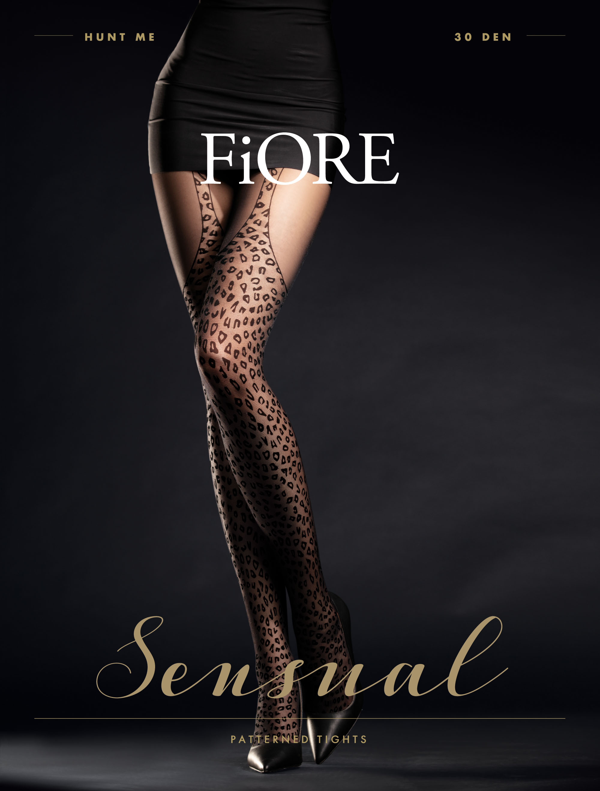 Fiore: Wild Leopard Patterned Tights