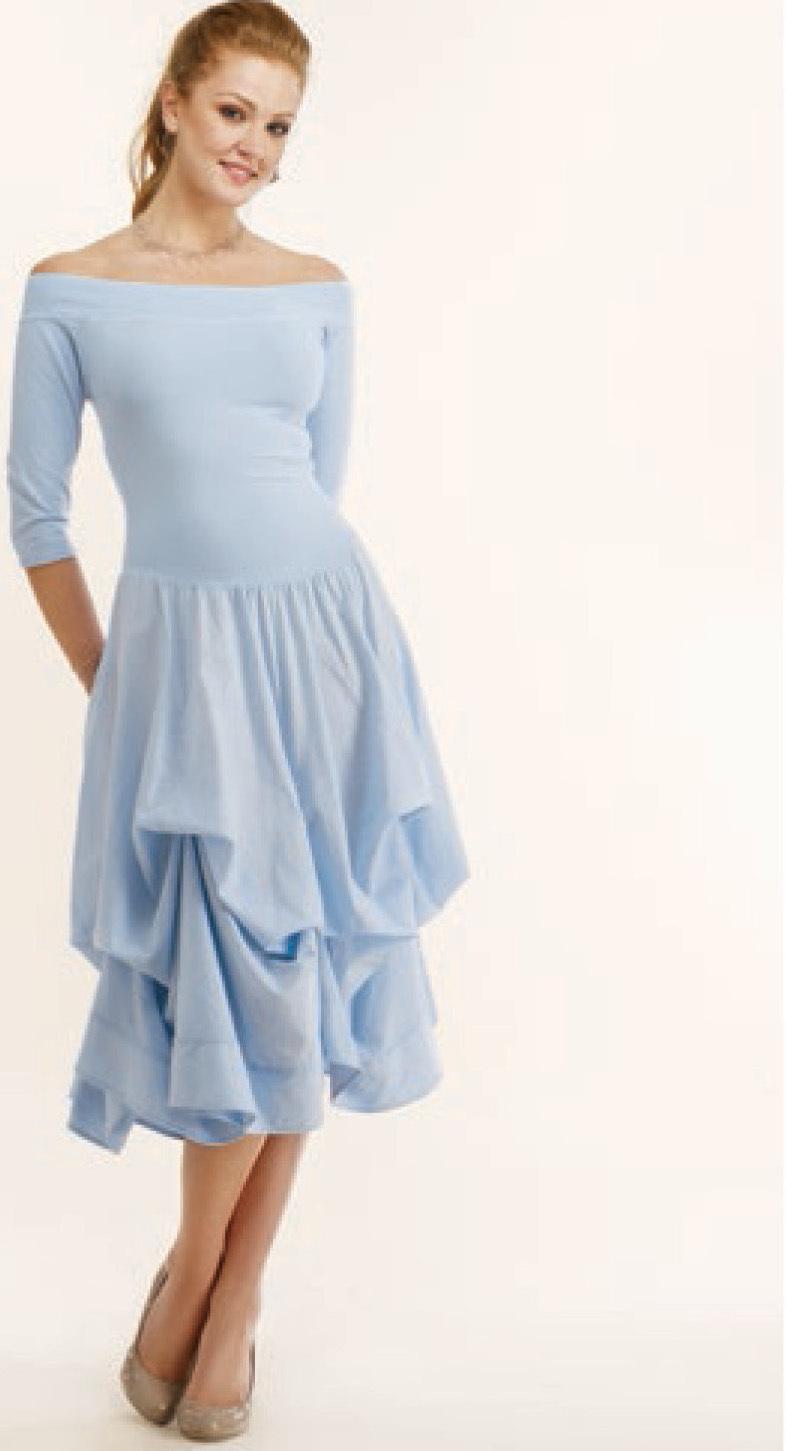 Luna Luz: Tied & Dyed Off The Shoulder Godet Dress (Ships Immed, 1 Left in Angel Blue!) LL_393T_wpoof_withoutpoof_N7