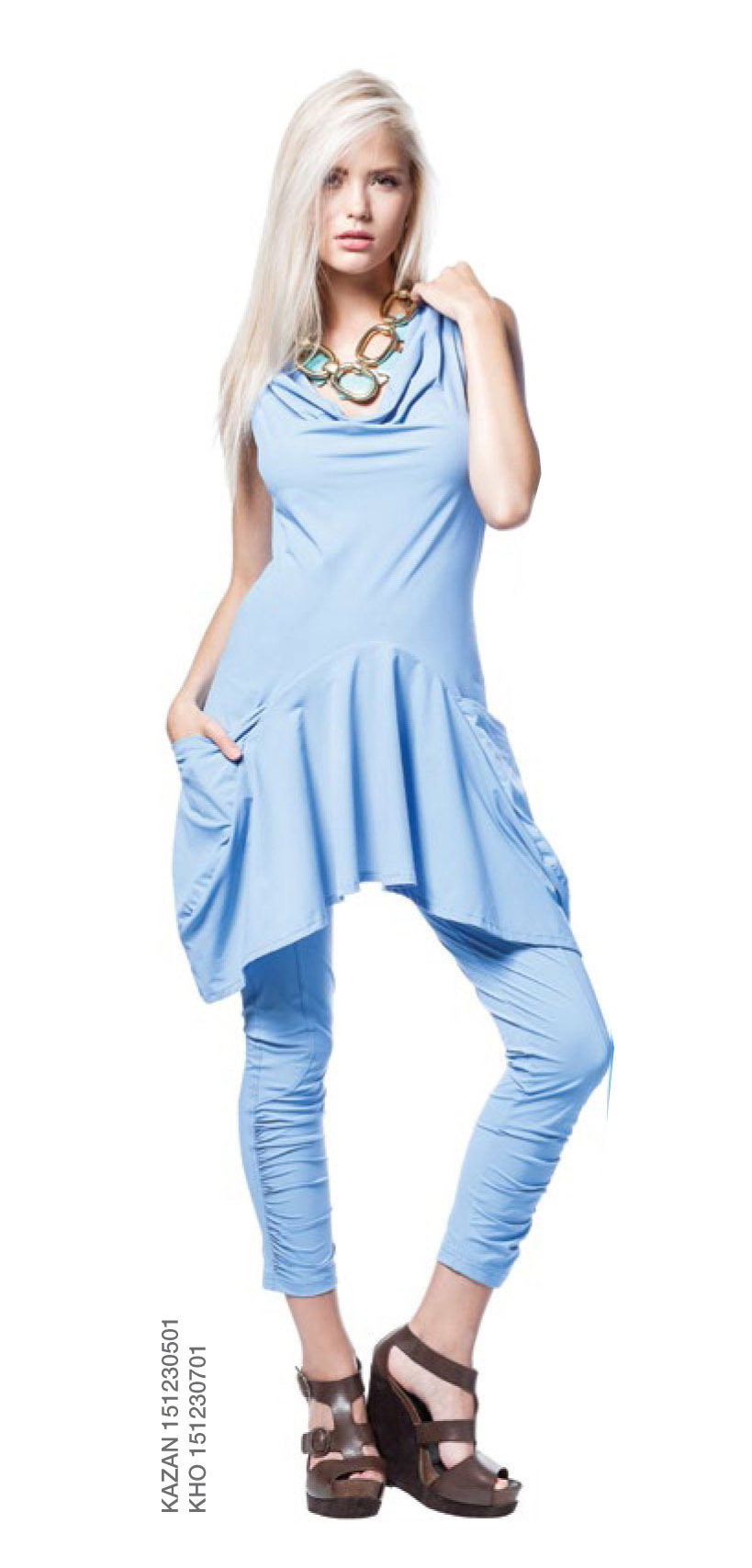 Maloka: Ruched Legging (1 Left in Sky Blue!) MK_KHO_SkyBlue_NEW