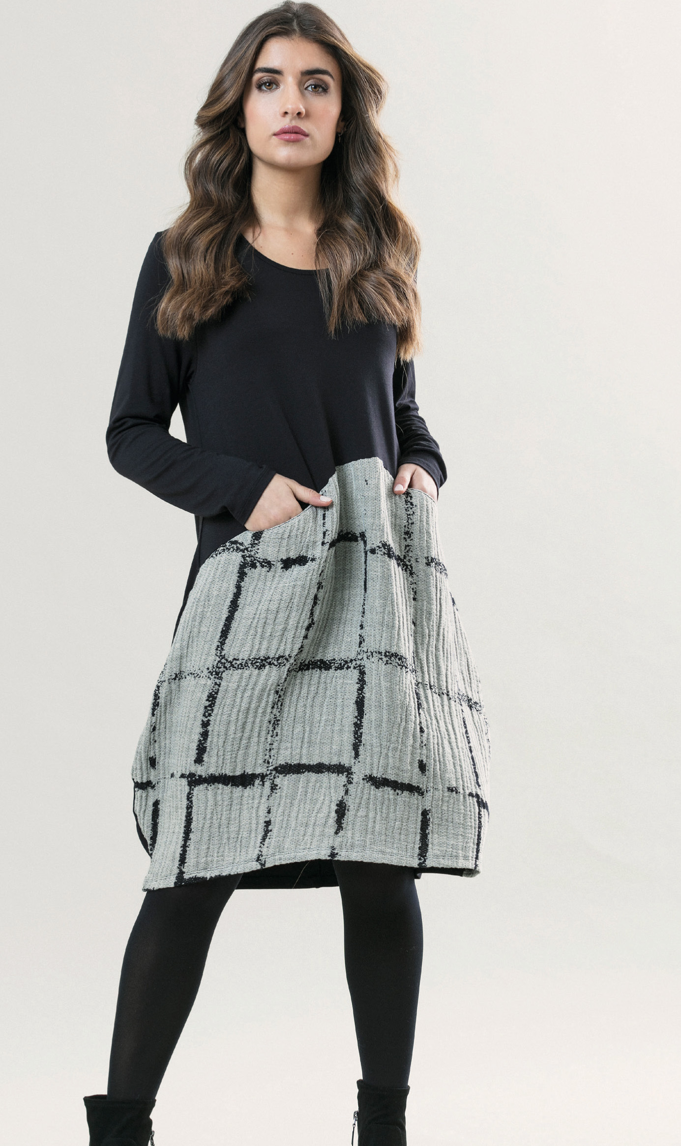 G!oze France: Bubble Chat Pocket Midi Dress (Few Left!) G_CHAT_N2