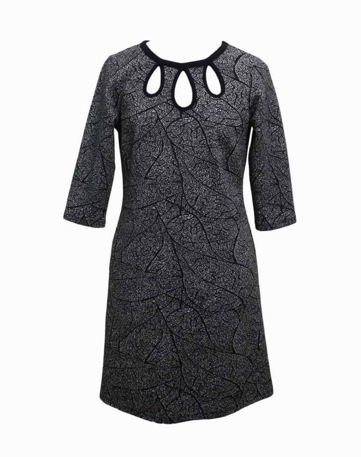 Maloka: Tulip Tears Jacquard Midi Dress (Hot Fave, It's Back!)