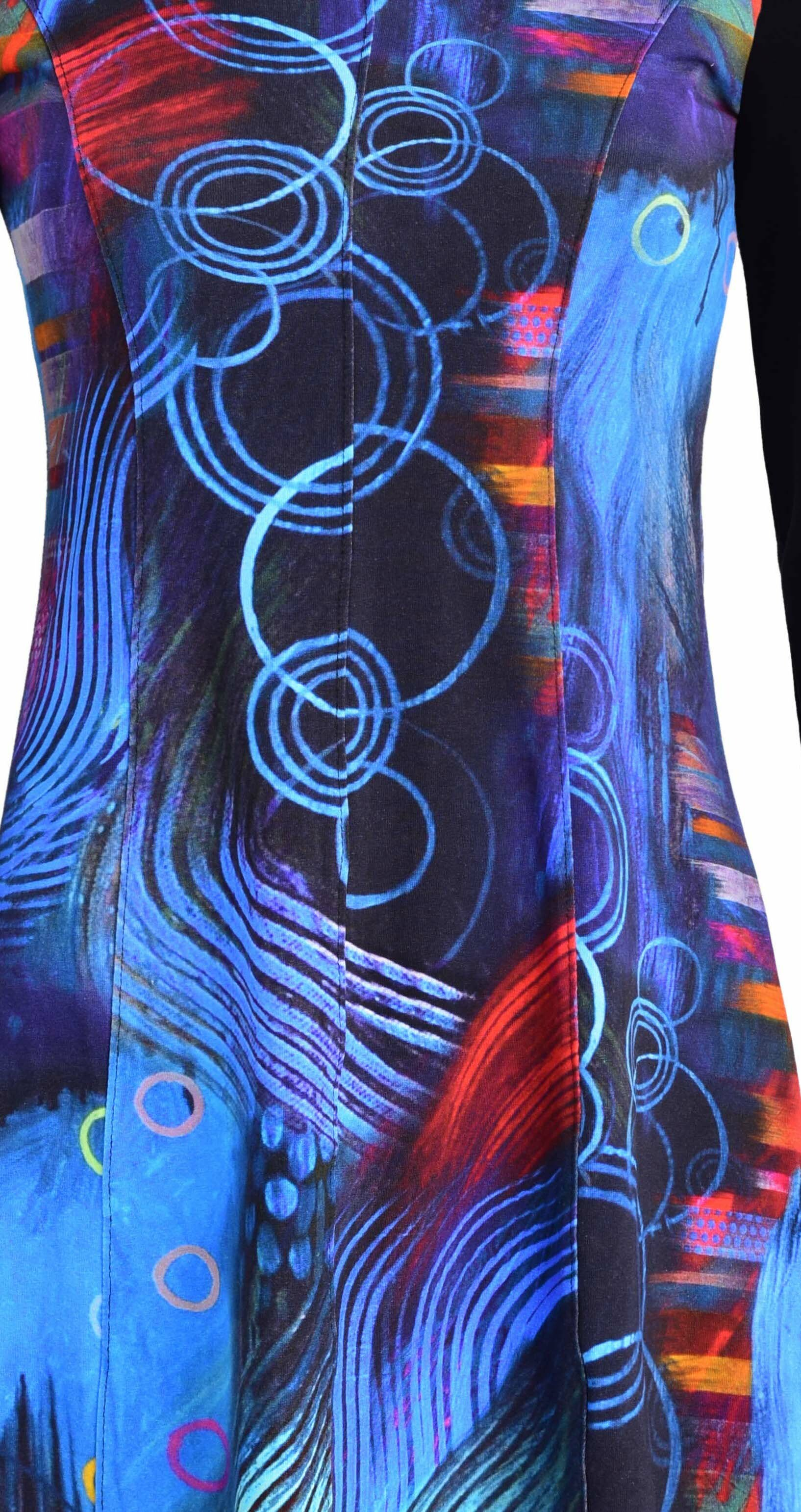 Simply Art Dolcezza: Distilling Color Fit & Flare Abstract Art Dress SOLD OUT