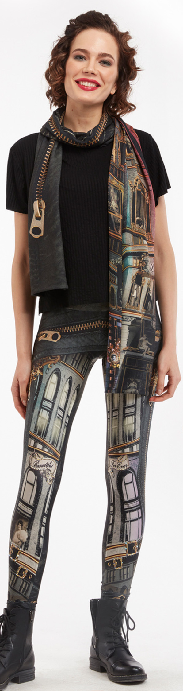 IPNG: Biker Chic Let It Snow Illusion Legging (Ships Immed!)