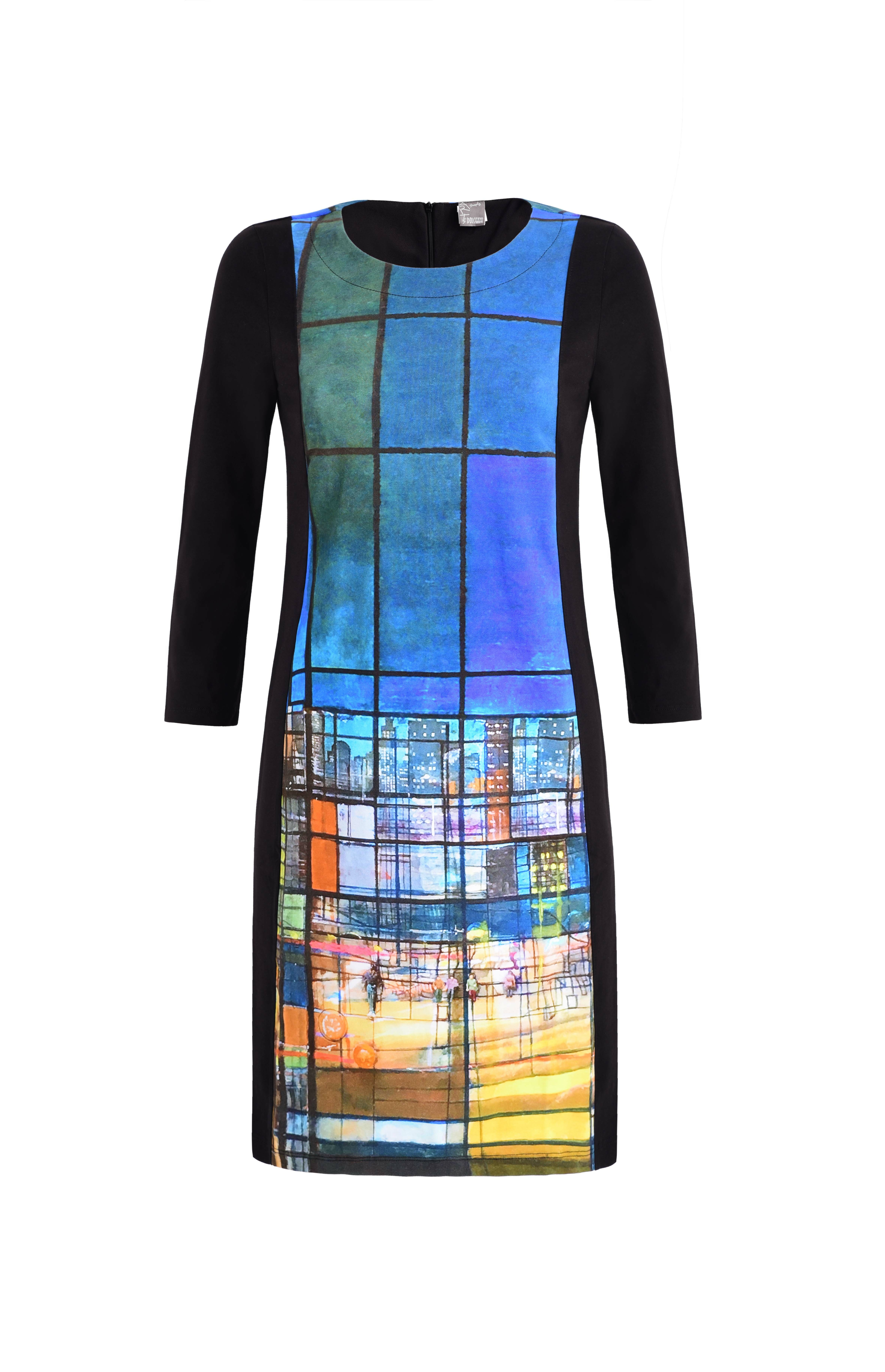Simply Art Dolcezza: Colors Of Ville La Nuit Abstract Art Dress (1 Left!) Dolcezza_SimplyArt_59714