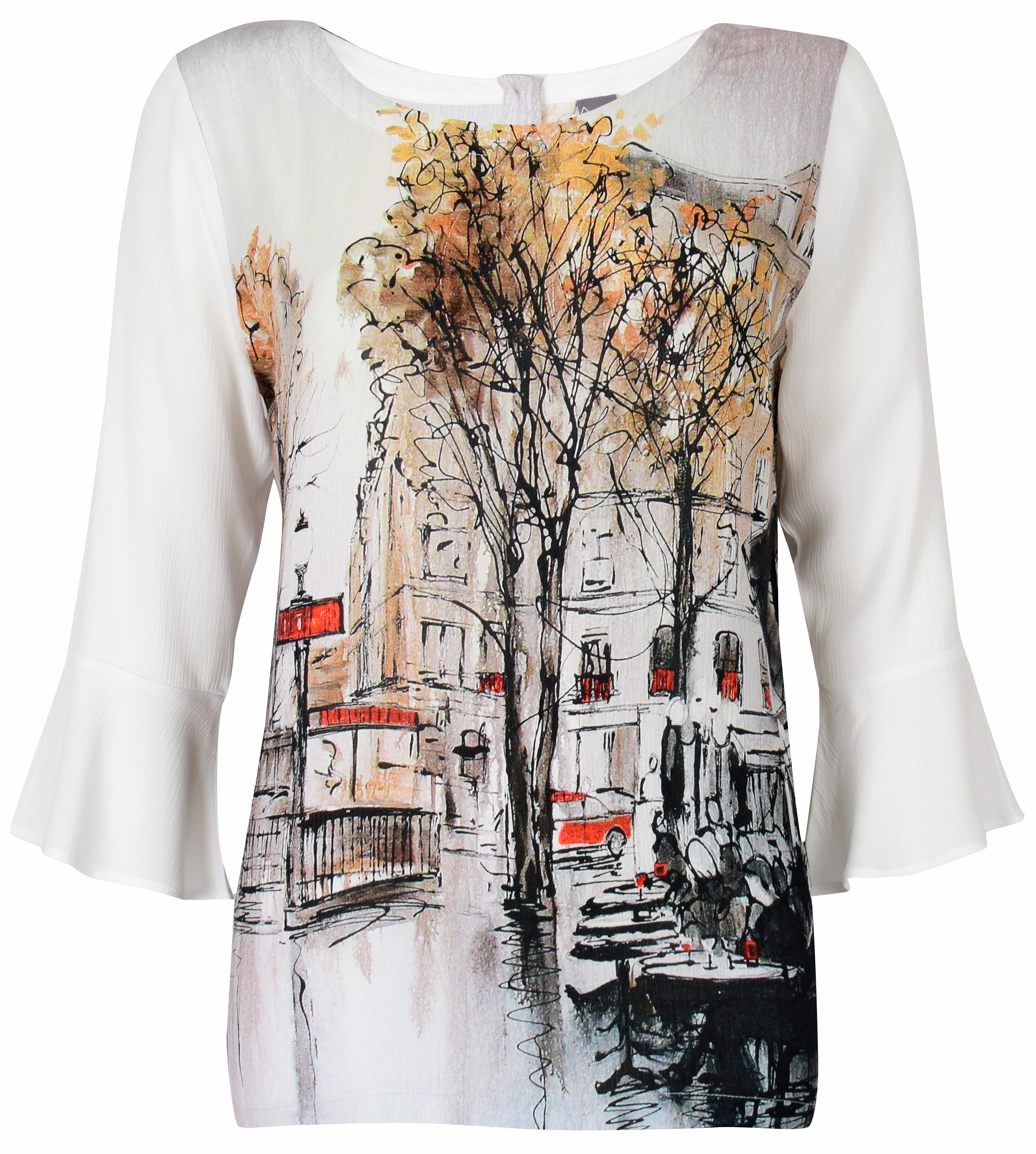 Simply Art Dolcezza: Splendid Parisian Life Back Buttoned Abstract Art Tunic (1 Left!) Dolcezza_Simplyart_59703