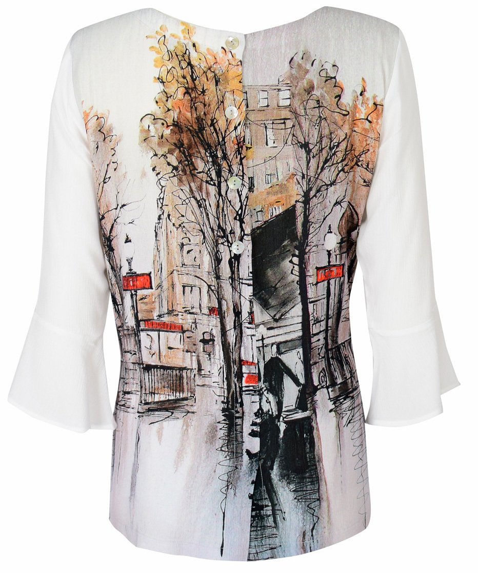 Simply Art Dolcezza: Splendid Parisian Life Back Buttoned Abstract Art Tunic (1 Left!)