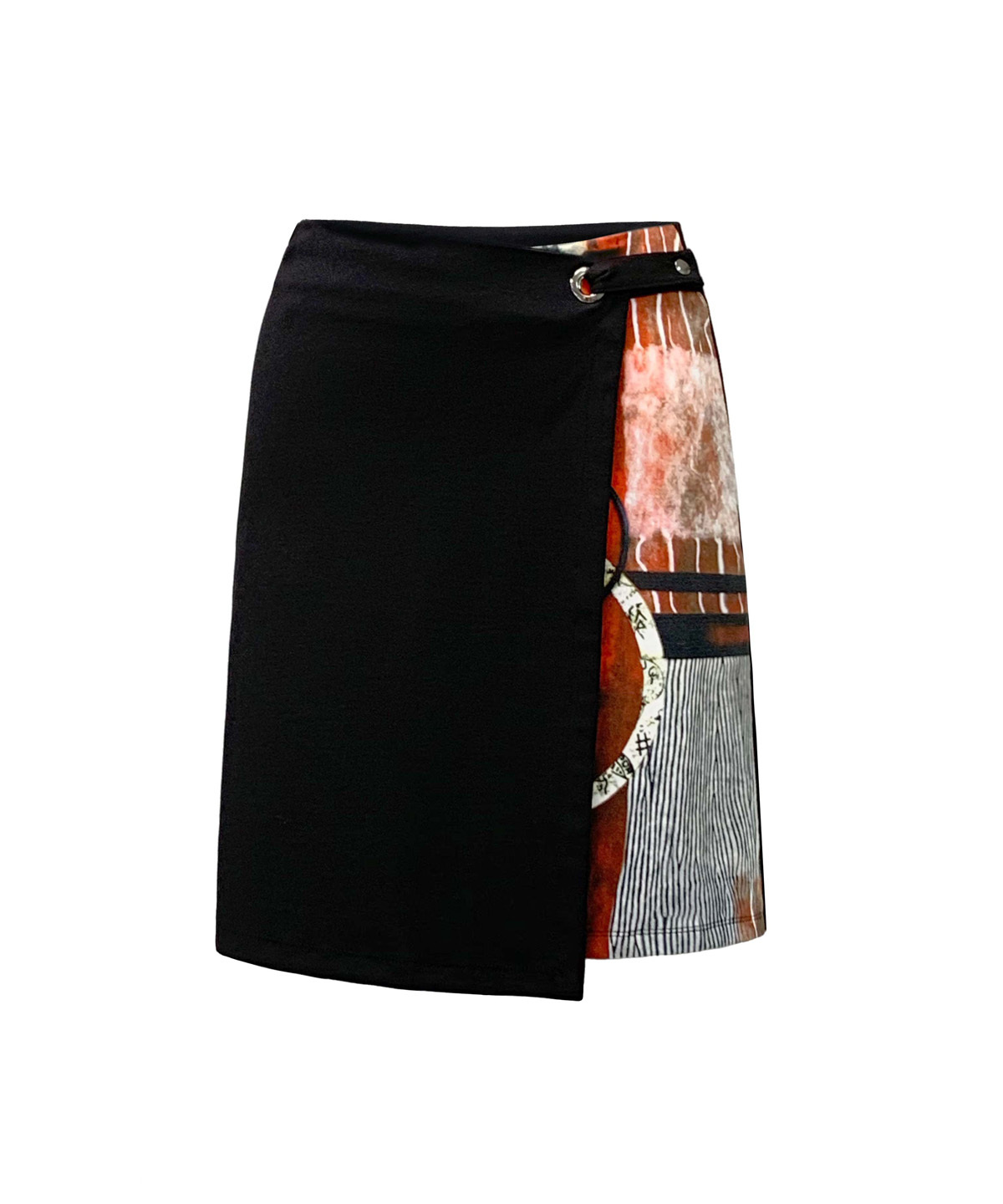 Simply Art Dolcezza: Pretty In Red Extraordinary Abstract Art Crossover Skirt SOLD OUT Dolcezza_SimplyArt_59645