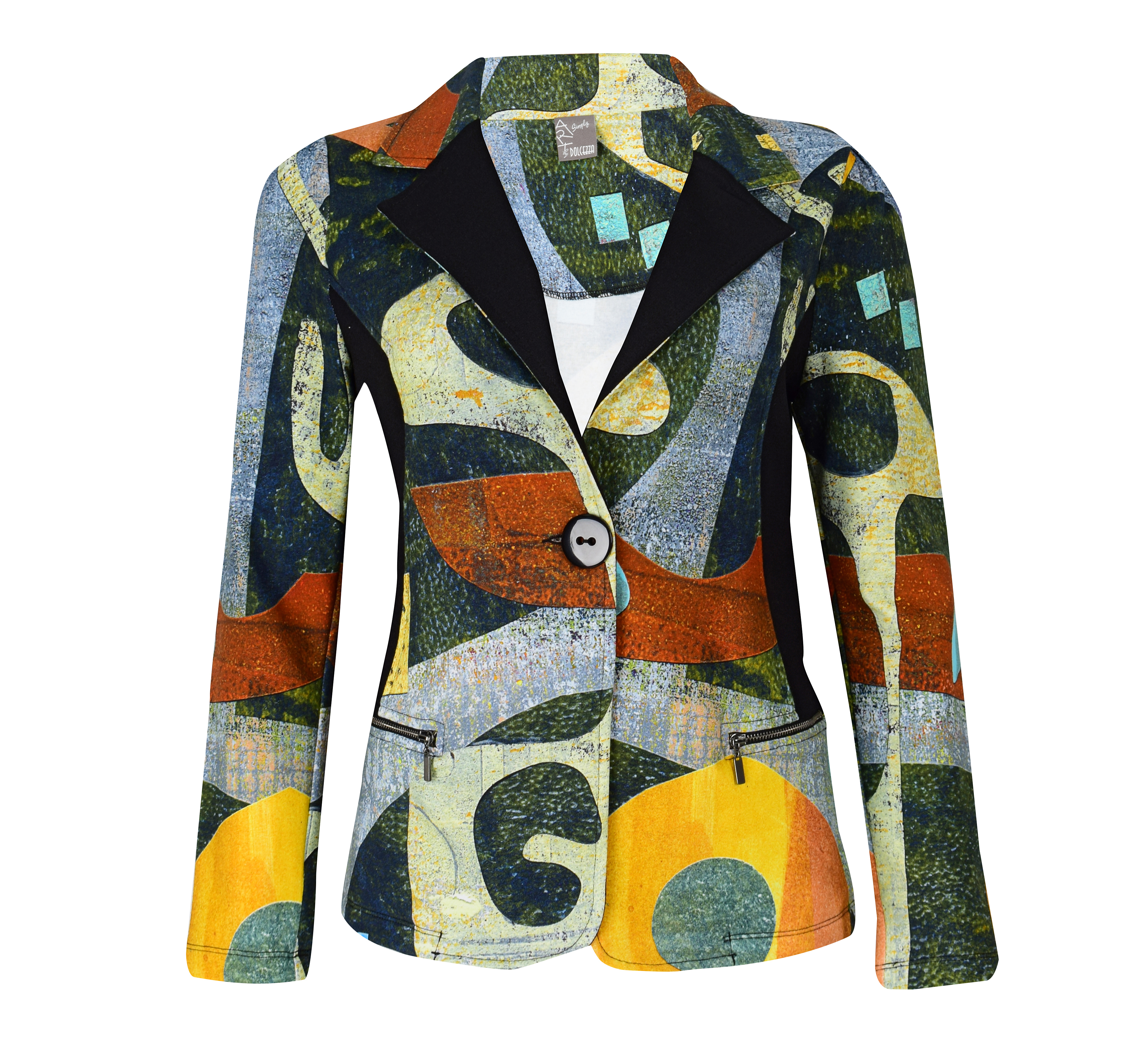 Simply Art Dolcezza: Small Collage Of Eclecticism Abstract Art Blazer SOLD OUT Dolcezza_SimplyArt_59746_N