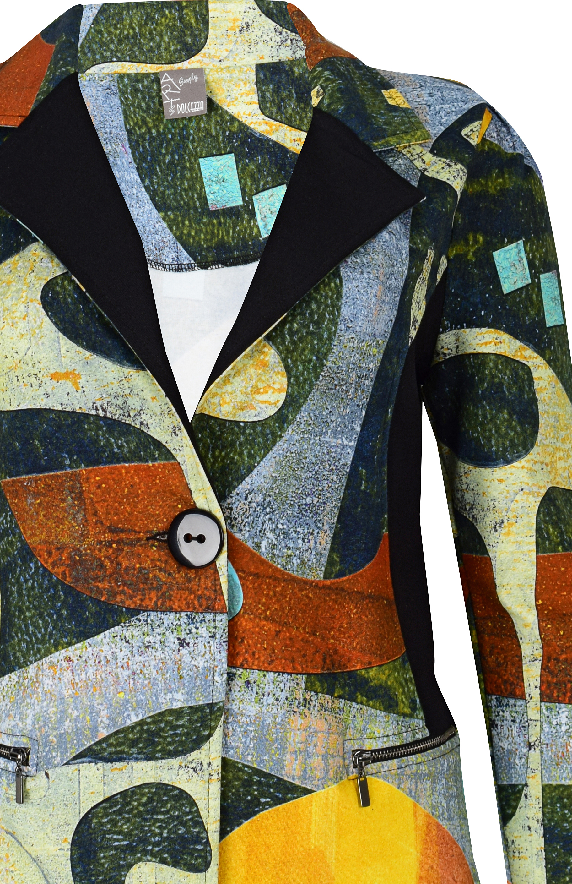 Simply Art Dolcezza: Small Collage Of Eclecticism Abstract Art Blazer SOLD OUT