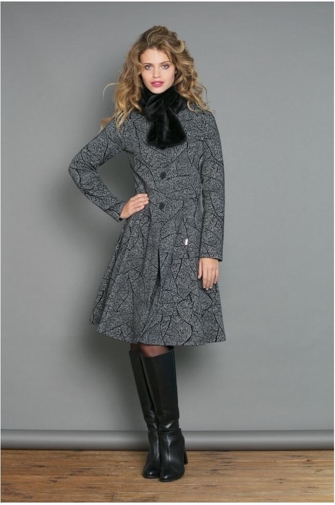 Maloka: Romantic Rainstorm Jacquard Flared Coat MK_FEBE_N1